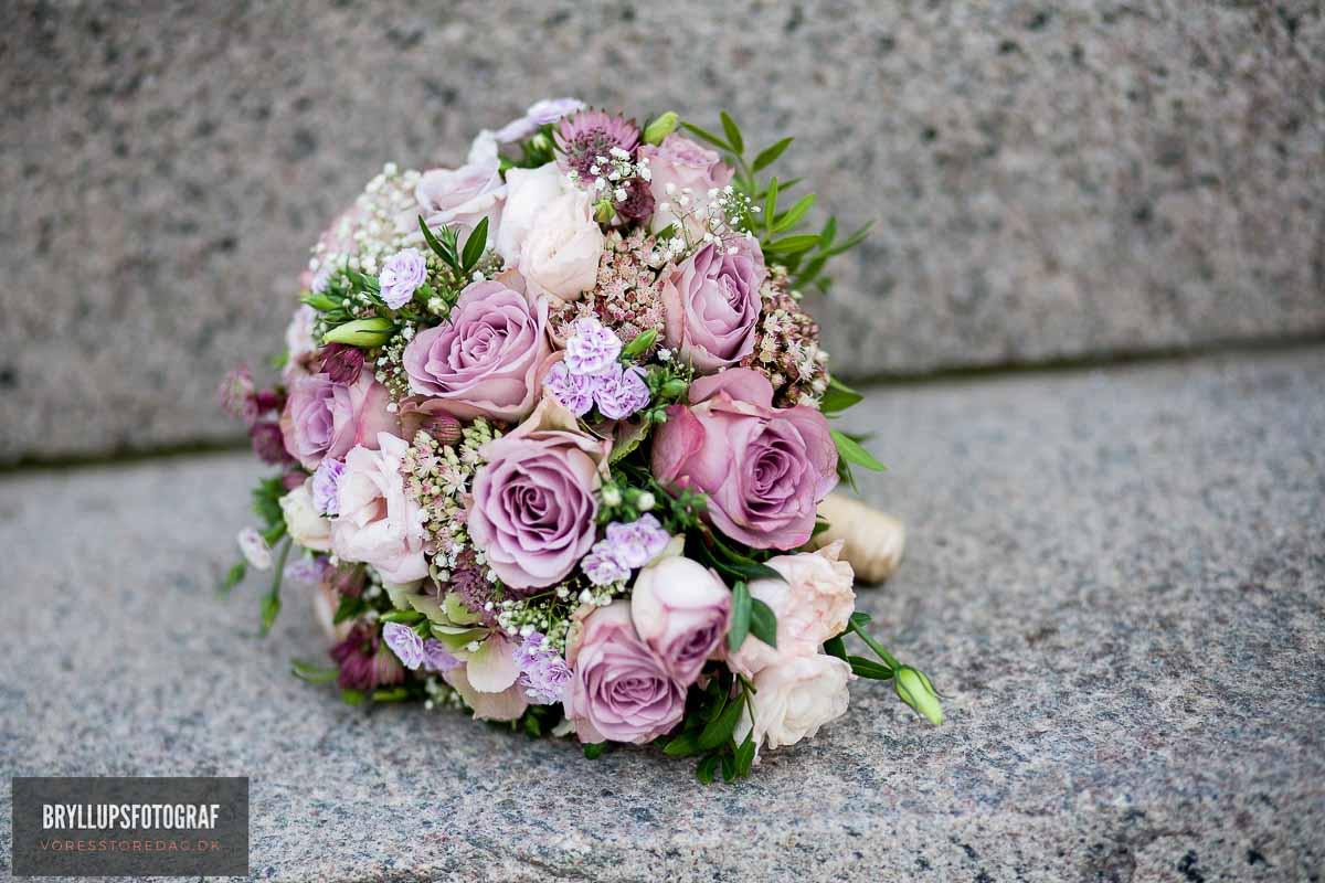 brudebuketten bryllup Roskilde
